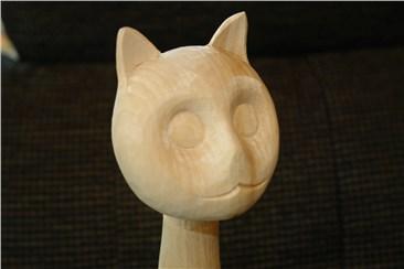 Katze natur:   Ein exclusives Dekorationsstück!      Höhe: ca 45 cm   Gewicht: ca 70